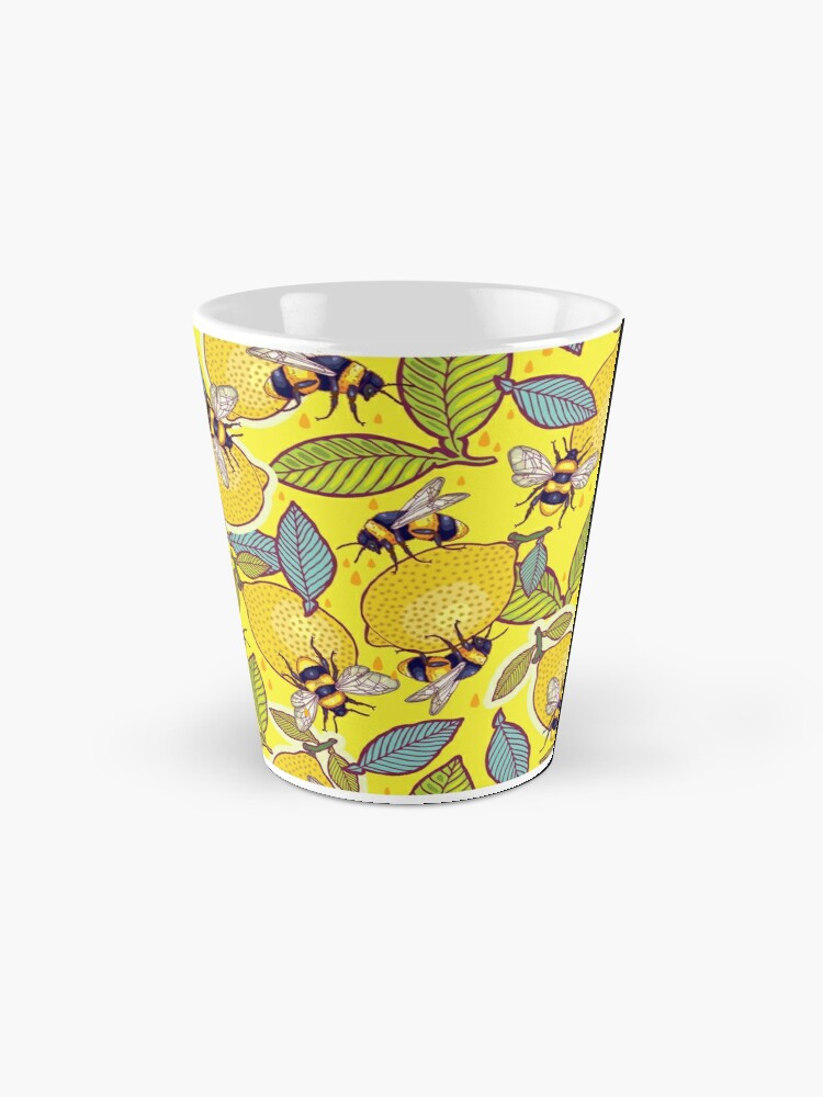Alternate view of Yellow lemon and bee garden. Mug