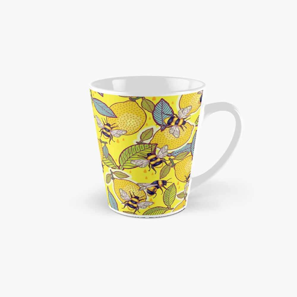 Yellow lemon and bee garden. Mug