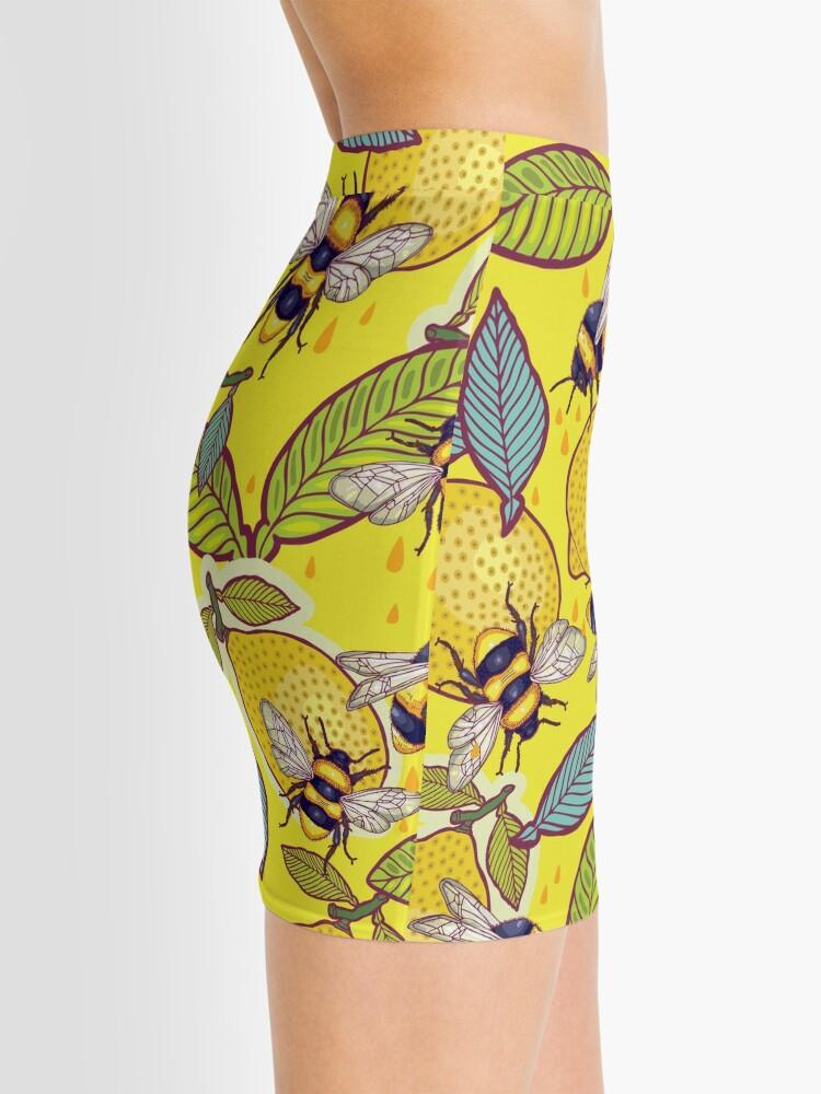Alternate view of Yellow lemon and bee garden. Mini Skirt