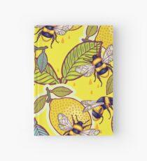 Gelber Zitronen- und Bienengarten. Notizbuch