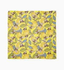Yellow lemon and bee garden. Scarf