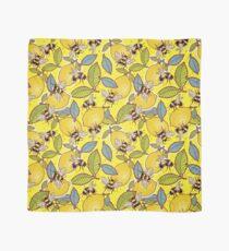 Pañuelo Amarillo limón y jardín de abejas.