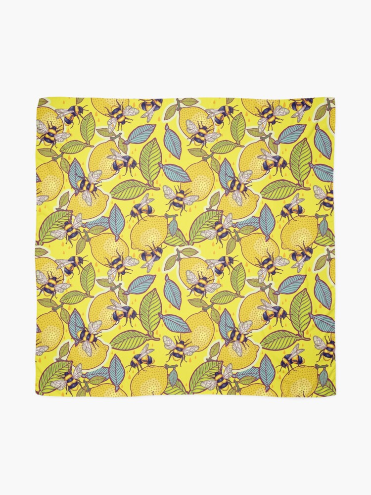 Alternate view of Yellow lemon and bee garden. Scarf