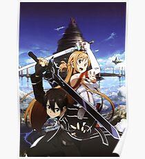 Sword Art Online - Kirito and Asuna Artwork Poster