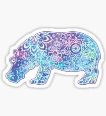 Psychedelic Hippo // Hippy Hippo Sticker