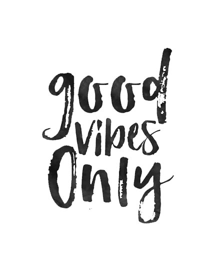GOOD VIBES ONLY Sign Office Wall ArtOffice QuoteQuote Prints Beauteous Positive Quote