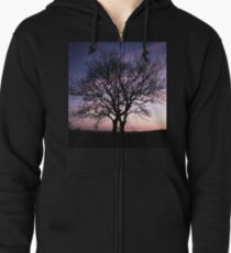 Two Trees embracing Zipped Hoodie