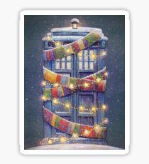 Christmas Police Box Sticker