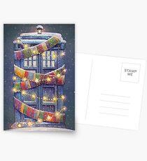 Christmas Police Box Postcards