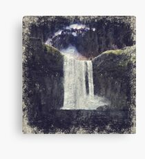Milkyway Arch over Raging Waterfall by Adam Asar 2 Canvas Print