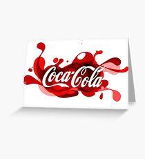 Coca-Cola Splash Logo Greeting Card