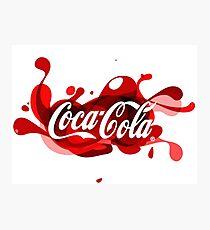 Coca-Cola Splash Logo Photographic Print