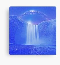 Milkyway Arch over Raging Waterfall by Adam Asar 5 Canvas Print