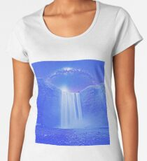 Milkyway Arch over Raging Waterfall by Adam Asar 5m Women's Premium T-Shirt