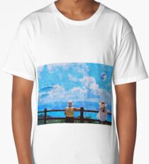 Mt Fiji From a Distant Japanese Island Long T-Shirt