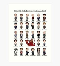 A Field Guide to the Common Cumberbatch (print/poster) Art Print