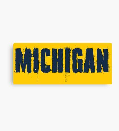 Michigan Trash Letters Canvas Print