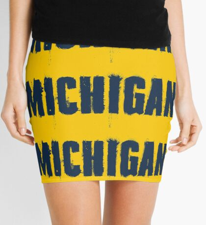 Michigan Trash Letters Mini Skirt