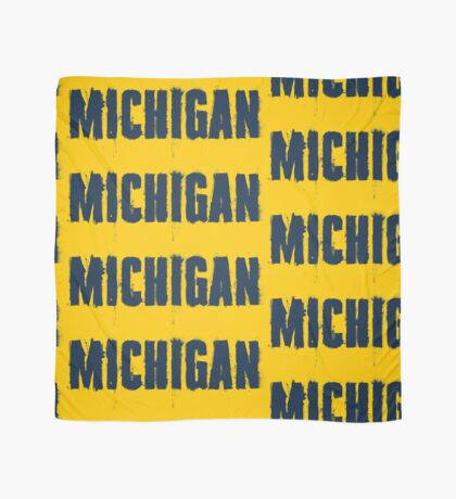 Michigan Trash Letters Scarf