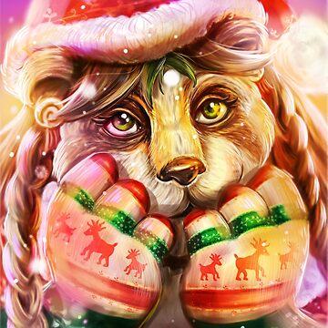 Christmas Pandaren, Warcraft Fanart by MoonpixStudios