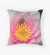 Froglet in a Blossom Throw Pillow