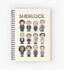 Sherlock and Friends (poster/card/notebook) Spiral Notebook
