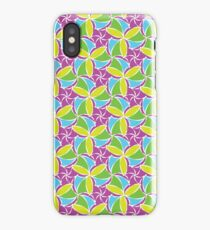 seamless pattern with geometric flowers iPhone Case/Skin