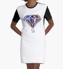 Diamond Universe-Gift-hipster-galaxy-trend-cool Graphic T-Shirt Dress