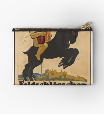 Germany Beer Boch Vintage Travel Advertisement Art Poster Zipper Pouch
