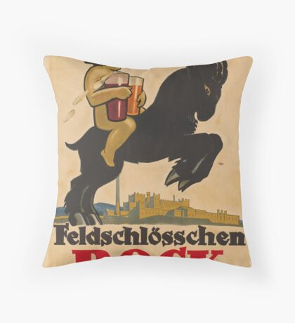 Germany Beer Boch Vintage Travel Advertisement Art Poster Throw Pillow