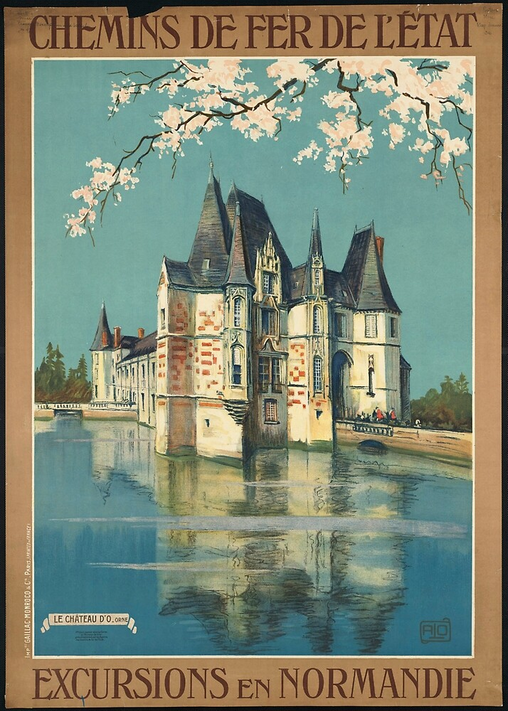 Normandy France Vintage Travel Advertisement Art Poster by jnniepce