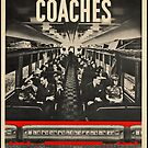 Train Coach Vintage Travel Advertisement Art Poster by jnniepce