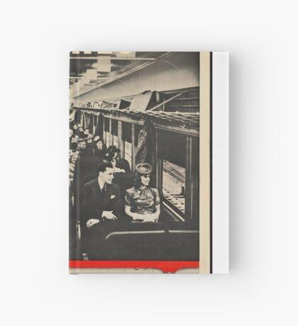 Train Coach Vintage Travel Advertisement Art Poster Hardcover Journal