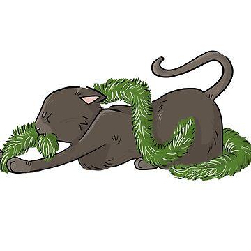 Kitty Christmas: Tinsel Devourer by Kakibot