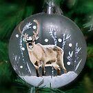 Reindeer Tree Ornament by AnnDixon