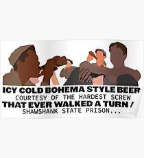 Shawshank Redemption - Roof top scene - beer scene Poster