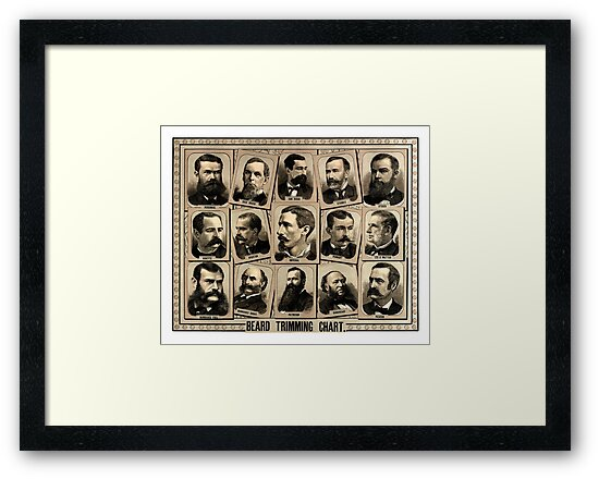 Vintage Beard Trimming Chart by reapolo