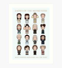 Ladies of The Musketeers (print/card) Art Print