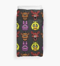 Five Nights at Freddy's 1 - Pixel art - The Classic 4 Duvet Cover