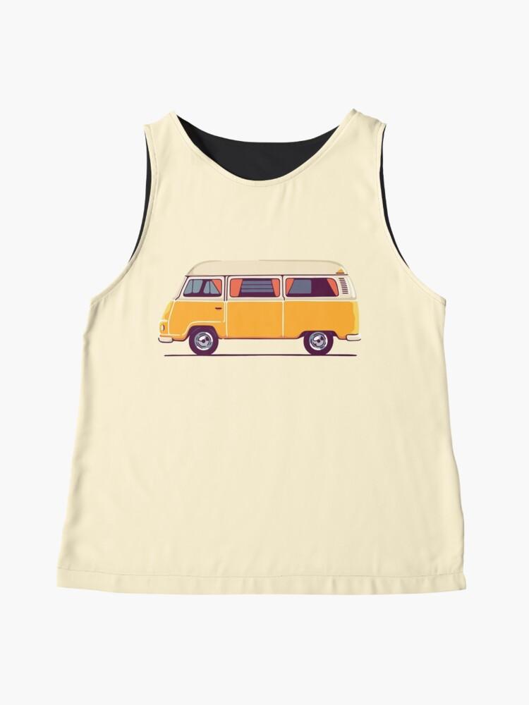 Alternative Ansicht von Vintage Hippie Camping Van Ärmelloses Top
