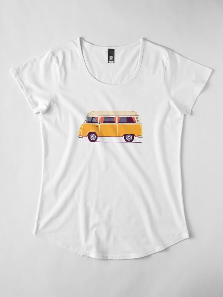 Alternative Ansicht von Vintage Hippie Camping Van Premium Rundhals-Shirt