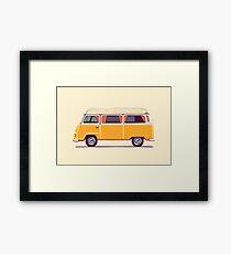 Vintage Hippie Camping Van  Framed Print