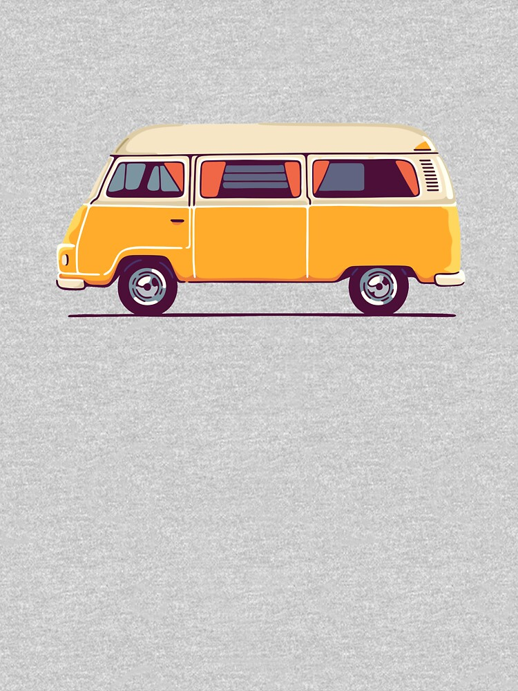 Vintage Hippie Camping Van von sundrystudio