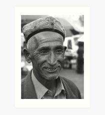 Uyghur grandfather Art Print