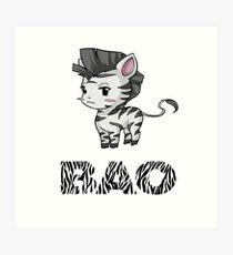 Zebra Bao Art Print