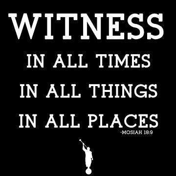 WITNESS OF GOD (white) by LDStreetwear