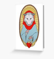 Holy Mother Possum Greeting Card