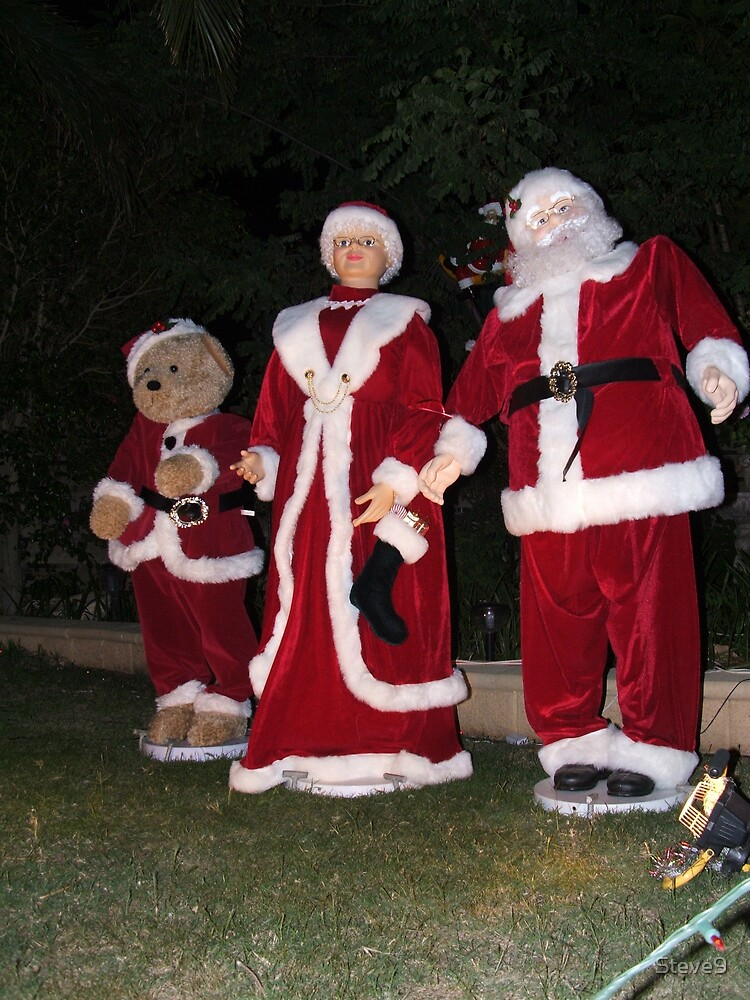 Christmas decorations in the front yard by Steve9