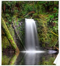 HDR Waterfall Paradise Poster
