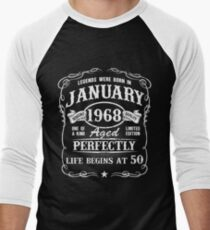 Born in January 1968 Men's Baseball ¾ T-Shirt